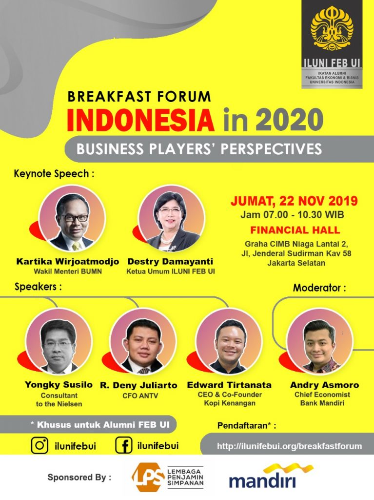 Breakfast Forum | Indonesia in 2020, Business Player Perspective