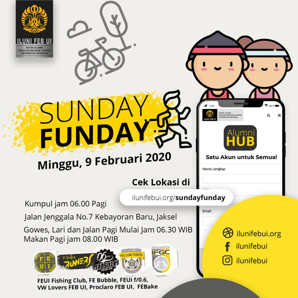 Mark Your Calendar: Sunday Funday 9 Februari 2020!