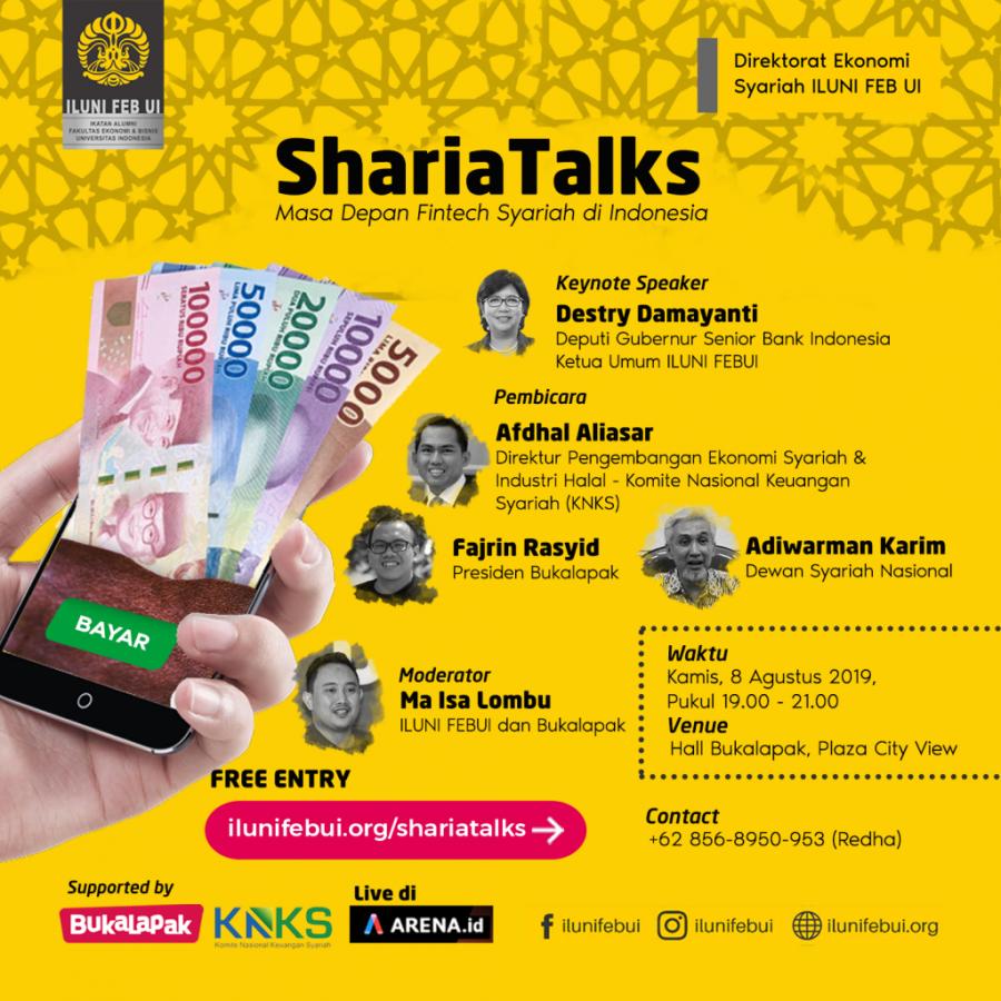 ShariaTalks: Materi Fintech Syariah, Fajrin-Bukalapak